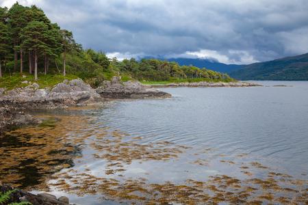 Shore of Loch Sunart at Ardnamurchan peninsula, the longest sea loch in the Highland, Scotland, UK Reklamní fotografie