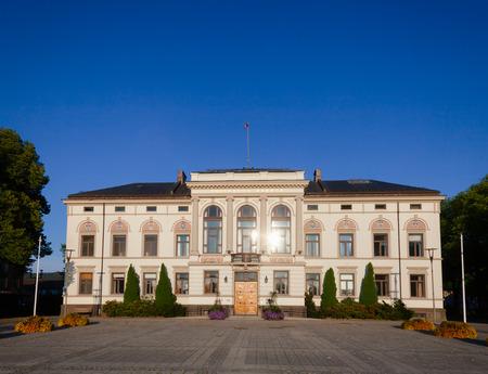 Neo-Renaissance with elements of Art Nouveau building of Porsgrunn City Hall, Porsgrunn city and municipality in Telemark County, Norway Standard-Bild - 113620072