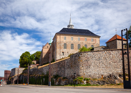 Medieval Akershus Castle and Fortress, former royal residence in central Oslo, Norway, Scandanavia Standard-Bild - 113620076