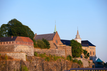 Medieval Akershus Castle and Fortress, former royal residence in central Oslo, Norway, Scandanavia Standard-Bild - 113620078