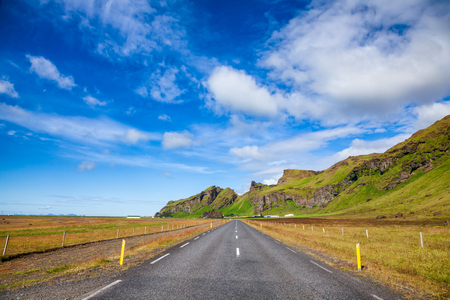 Route 1 or Ring Road (Hringvegur) national road that runs around the island and connecs popular tourist attractions in Iceland, Scandinavia