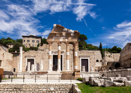 Capitolium (Temple of the Capitoline Triad), the main temple in Roman town of Brixia now Brescia, Lombardy, Northern Italy.