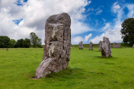 Standing Stones at Avebury, Wiltshire, southwest England, UK, one of the best known prehistoric sites in Britain