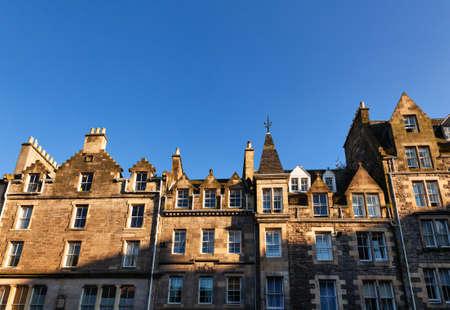 Typical sandstone terraced houses in Edinburgh, Scotland, UK 版權商用圖片
