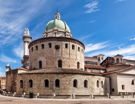 Romanesque circular Old Cathedral (Duomo Vecchio) or La Rotonda in Brescia, Lombardy, Northern Italy