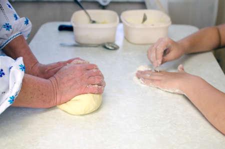 Prepare the dough photo