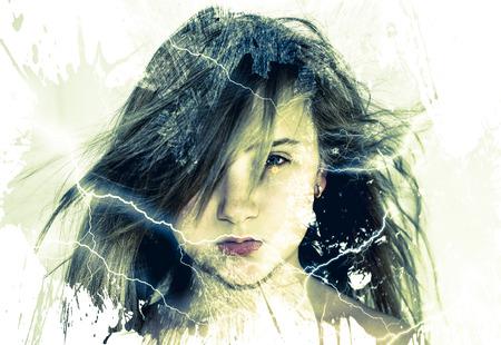 Girl lightning