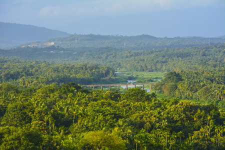 Beautiful landscape view at Elephant rock viewpoint Stock Photo