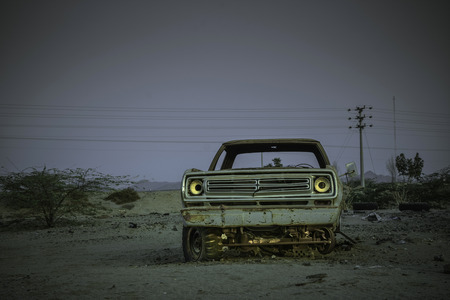 damaged old car