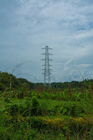 Electric tower work Standard-Bild - 118658864