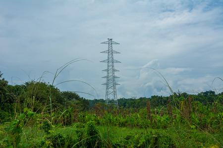 Electric tower work Standard-Bild - 118658865