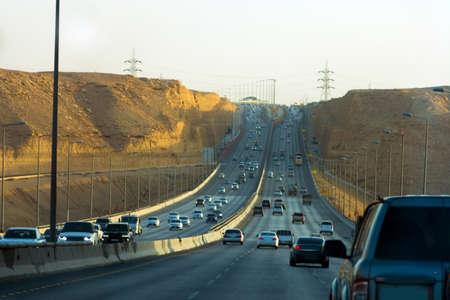 Riyadh - Makkah Road, Saudi arabia Standard-Bild
