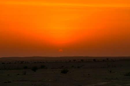 Sunset in desert, near Edge of the world, Mountains in Riyadh, Saudi arabia Imagens