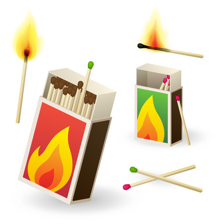 matchboxes with matches Stock Vector - 7962263