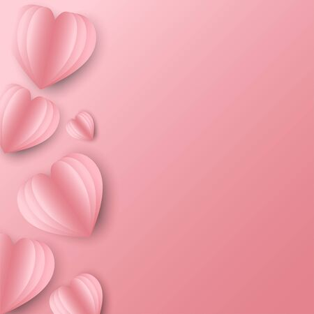 The pink heart shape has a light and dark pink backdrop, an anniversary card on a special day and on various occasions.