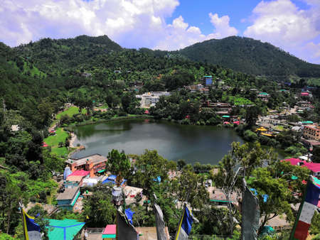 04-august-2019/ Famous natural rewalsar lake and town in mandi, himachal pradesh India.