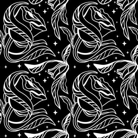 seamless floral pattern in black and wight colour