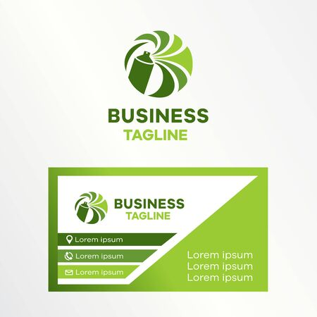 Spray manufacturers, spray can. Business card included