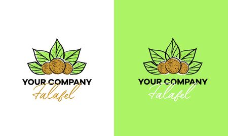 Logo for a cafe or restaurant serving falafel.