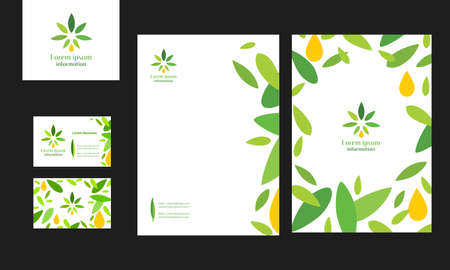 A set of business documents for a company associated with the production of marijuana.