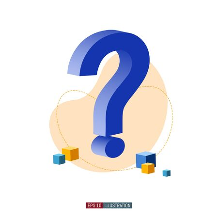 Trendy flat illustration. Frequently asked questions concept. Question mark. Template for your design works. Vector graphics.