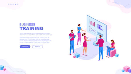 Trendy flat illustration. Business brief, presentation or training page concept. Teamwork metaphor. Education Learning Knowledge. Template for your design works. Vector graphics.