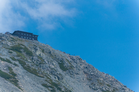 Panoramic view of Mountains in Murodo, Tateyama Kurobe Alpine Route ,Japan