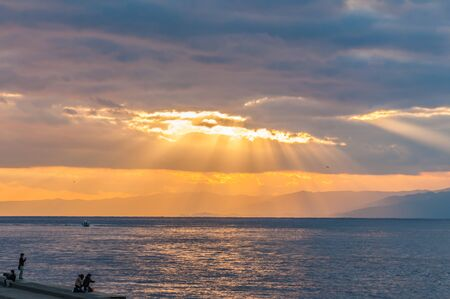 Sunset at Enoshima island,Japan Stock Photo