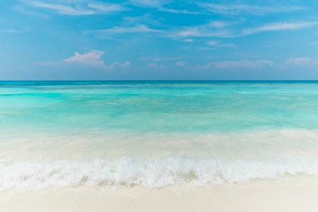 Tropical beach Sea Sand sky and summer day