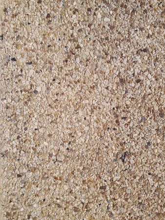 Wall of small sand stone texture. Stock Photo