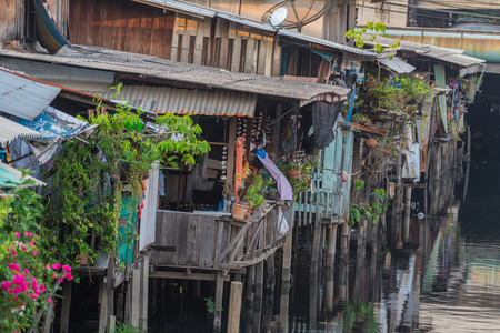 Life in the slums of Bangkok,Thailand
