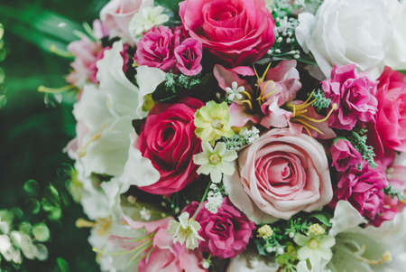 Colorful bunch of artificial flower Stock Photo