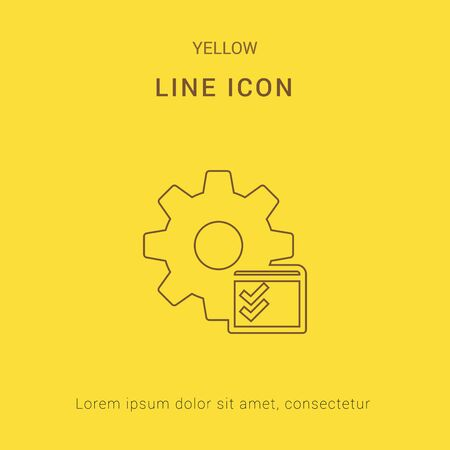 yellow line: Service Checklist Cute Yellow thin line Icon