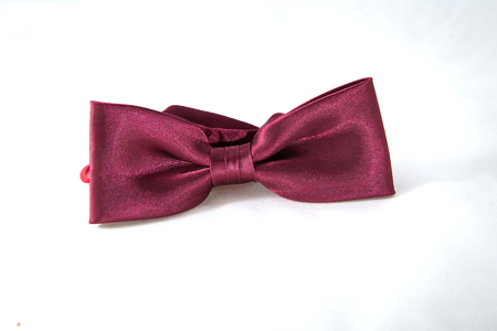 hair bow: Maroon hair bow tie
