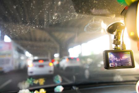 CCTV auto camera voor veiligheid op het verkeersongeval