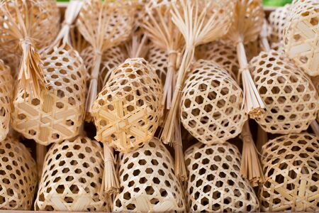 Handmade wicker mini baskets