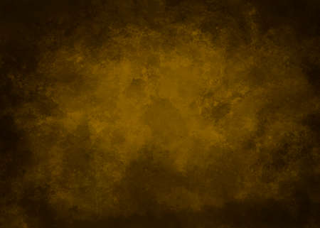 Dark golden background with textures and stains Foto de archivo
