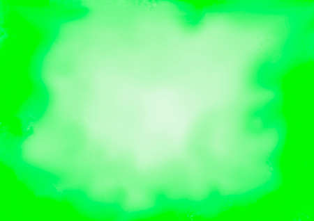 Green abstract background with lighter circular gradient in the center Foto de archivo