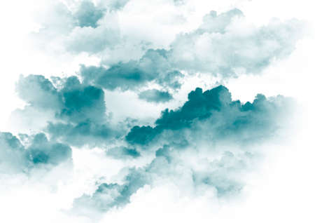 white and blue clouds background