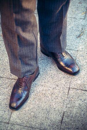 brogue: Full brogue man shoes Stock Photo