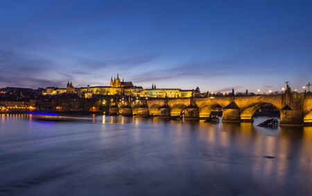 Panoramic view of the Prague Castle in the Czech Republic