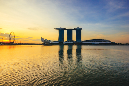 standalone: SINGAPORE - MAY 15: Marina Bay Sands, Worlds most expensive standalone casino property in Singapore at S$8 billion on May 15, 2016 Editorial