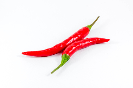 capsaicin: red chili pepper isolated on a white background Stock Photo