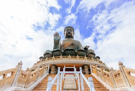 Tian Tan Buddha Statue an Polin-Kloster, Insel Ngong Ping Lantau, Hong Kong