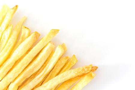 Patate fritte isolate su fondo bianco Archivio Fotografico - 62414365