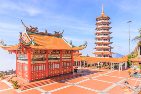 Pagoda at Chin Swee Temple, Genting Highland is a famous tourist attraction near Kuala Lumpur. Stock Photo