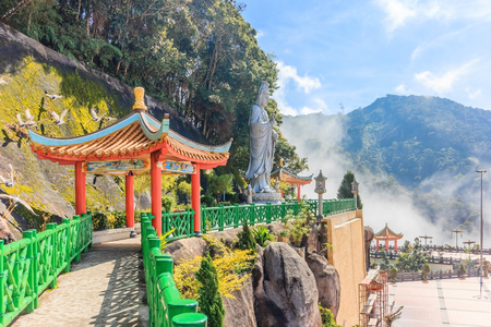 The scenic site of Chin Swee Caves Temple, Genting Highland, Malaysia. - The Chin Swee Caves Temple is situated in the most scenic site of Genting Highlands. Foto de archivo