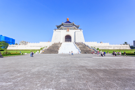 Chiang Kai Shek memorial hall, Taiwan. A famous monument, landmark and tourist attraction erected in memory of Generalissimo Chiang Kai-shek Editorial