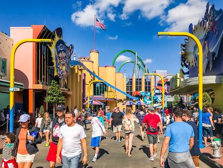 ORLANDO. USA. FLORIDA - JANUARY 05, 2017: Toon Lagoon places. Islands of Adventure. Universal Studios Orlando is a theme park resort in Orlando, Florida, USA.