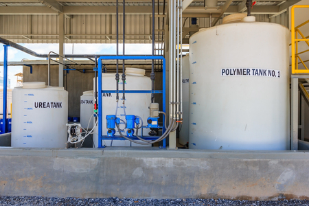 Polymer treatment tank, Waste processing facility exterior